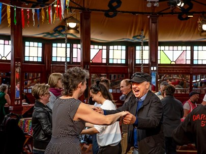 People dancing together of mixed ages